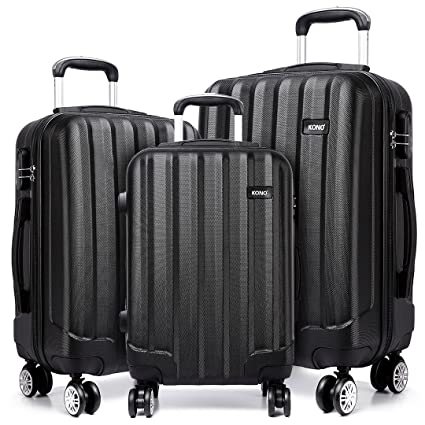 """943f53298 Kono Durable Hard Shell Suitcases with 4 Spinner Wheels Light Weight ABS  Travel Trolley Case 20"""""""