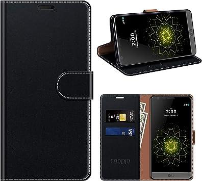 COODIO Funda Cuero LG G5, Funda LG G5, Funda Cover Rugged LG G5 ...