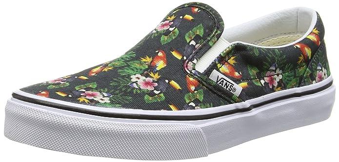 Vans Classic Slip Schuhe Unisex Jungen Mädchen Kinder Mehrfarbig Chambray/Parrot