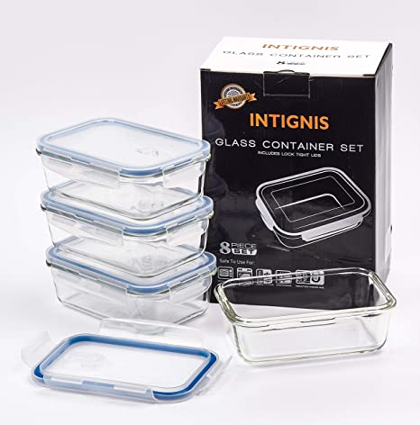 4x Food Storage Containers Transparent Plastic Storage Box Vented Lid Microwave