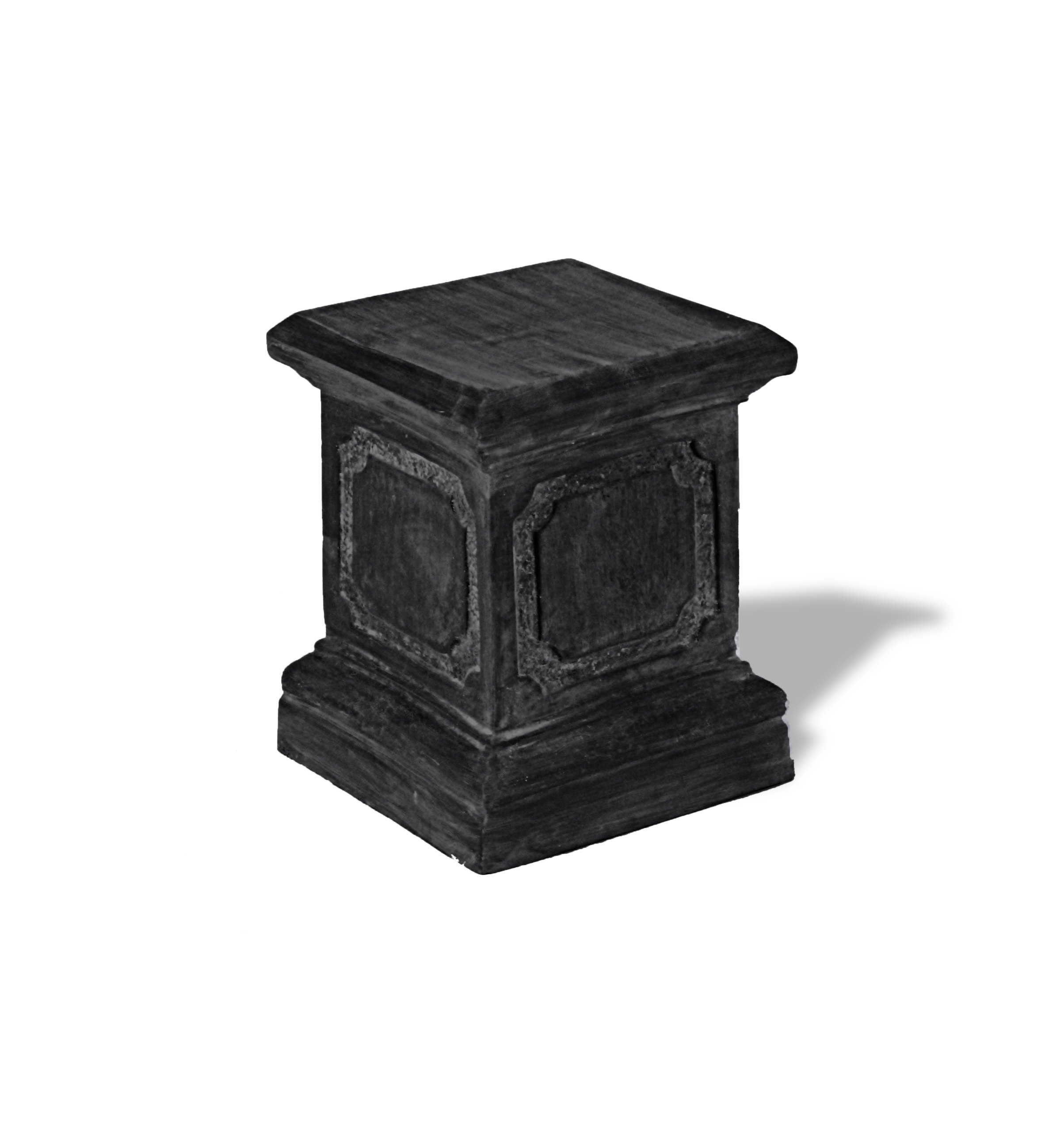 Amedeo Design ResinStone 1900-1C Paneled Pedestal, 15 by 15 by 20-Inch, Charcoal