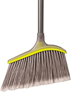 Casabella Wayclean Wide Angle Broom, Gray