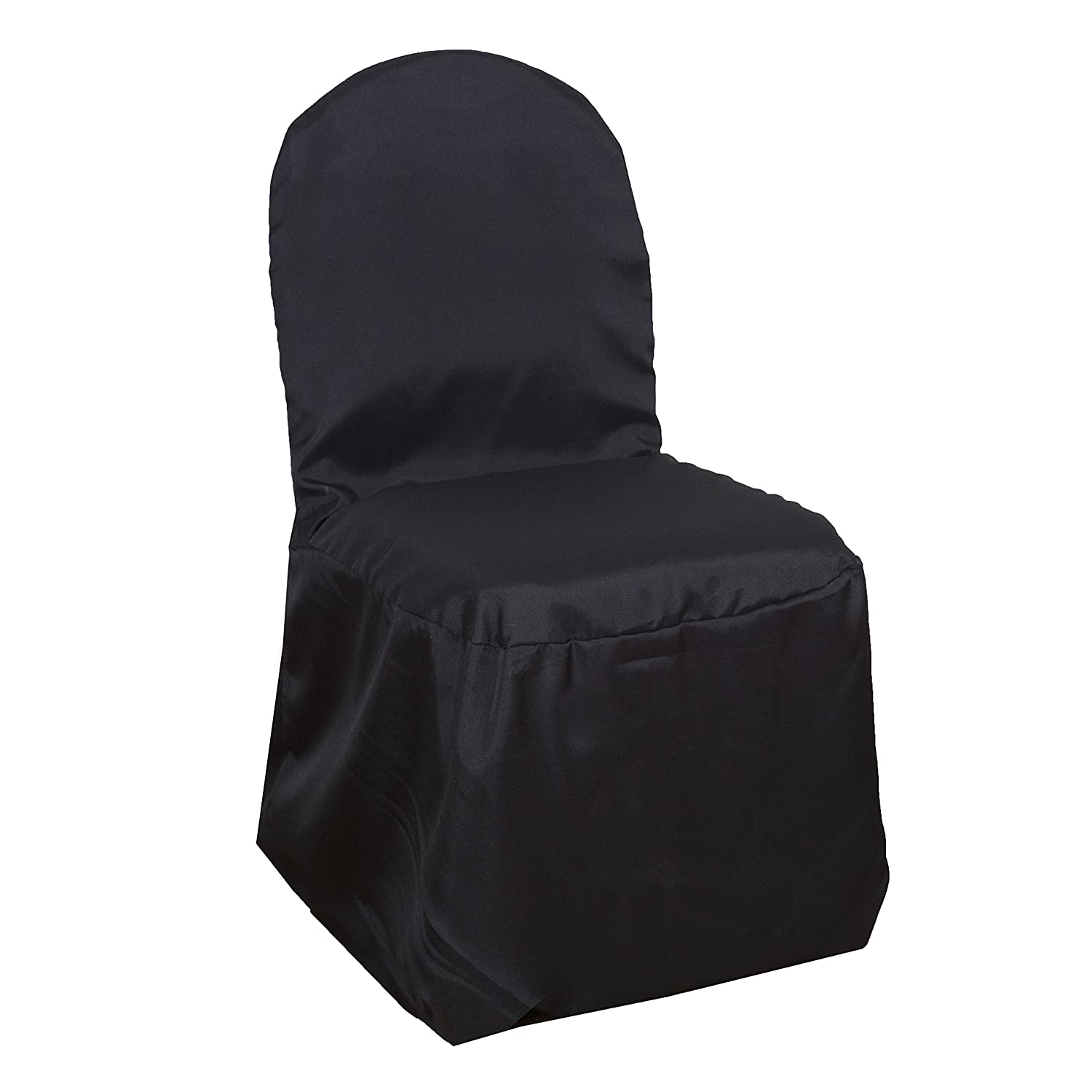 Superb Balsacircle 50 Pcs Black Polyester Banquet Chair Covers For Party Wedding Linens Decorations Dinning Ceremony Reception Supplies Ibusinesslaw Wood Chair Design Ideas Ibusinesslaworg