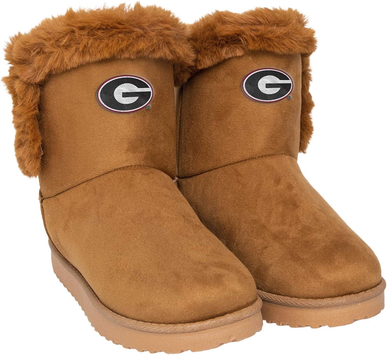 FOCO NCAA Unisex-Adult Womens Brown Fur Boot