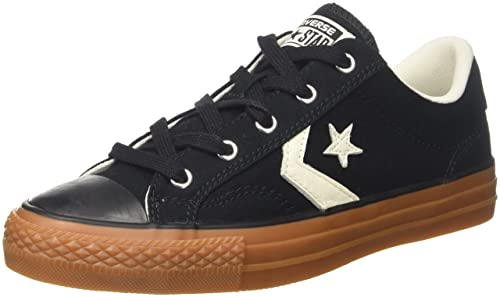 Converse Lifestyle Star Player Ox Canvas, Scarpe da Fitness Unisex-Bambini, Nero (Black/Egret/Honey 001), 37.5 EU