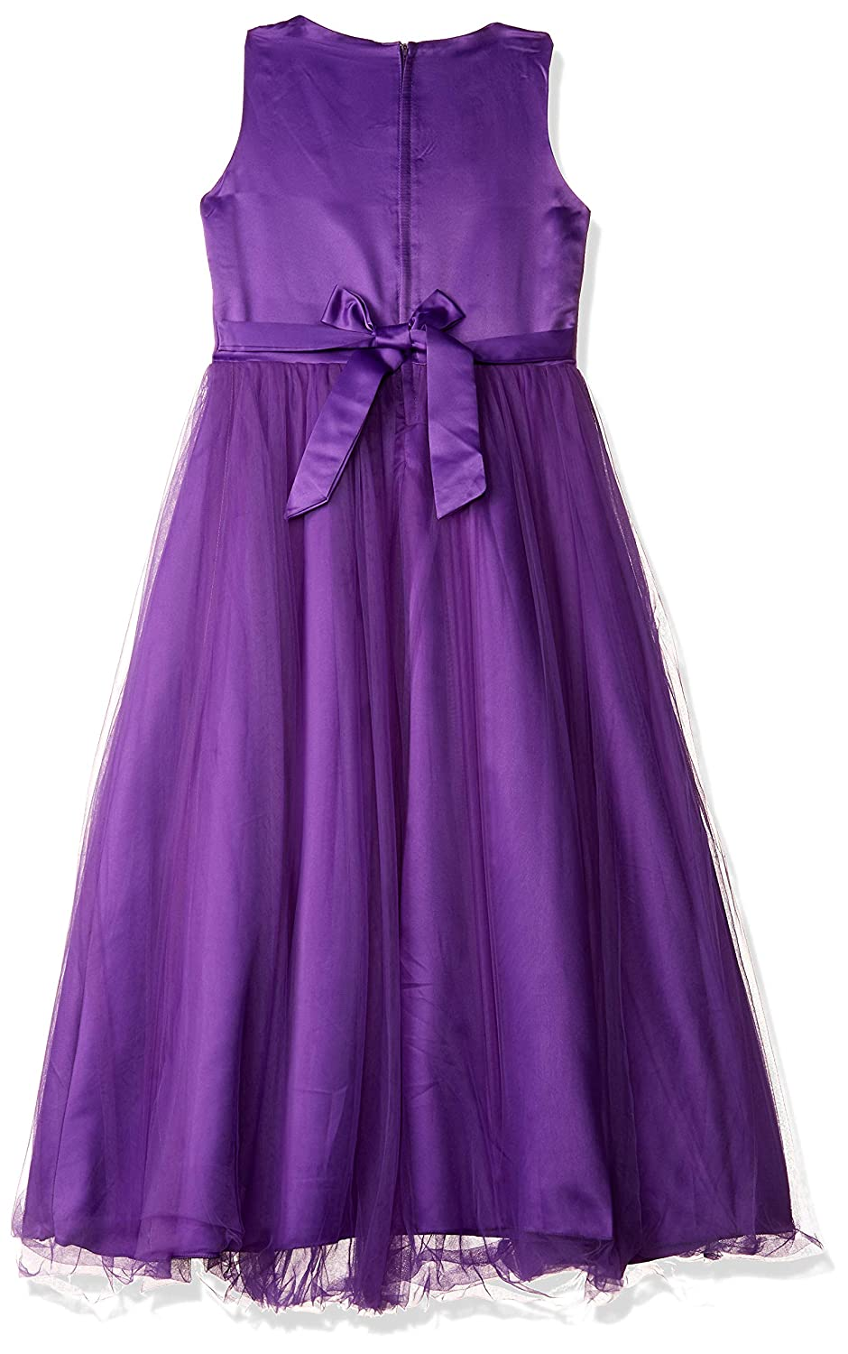 f47ea365841b87 Si Rosa by Hopscotch Girls Poly Cotton Applique Sleeveless Gown in Violet  Colour  Amazon.in  Clothing   Accessories