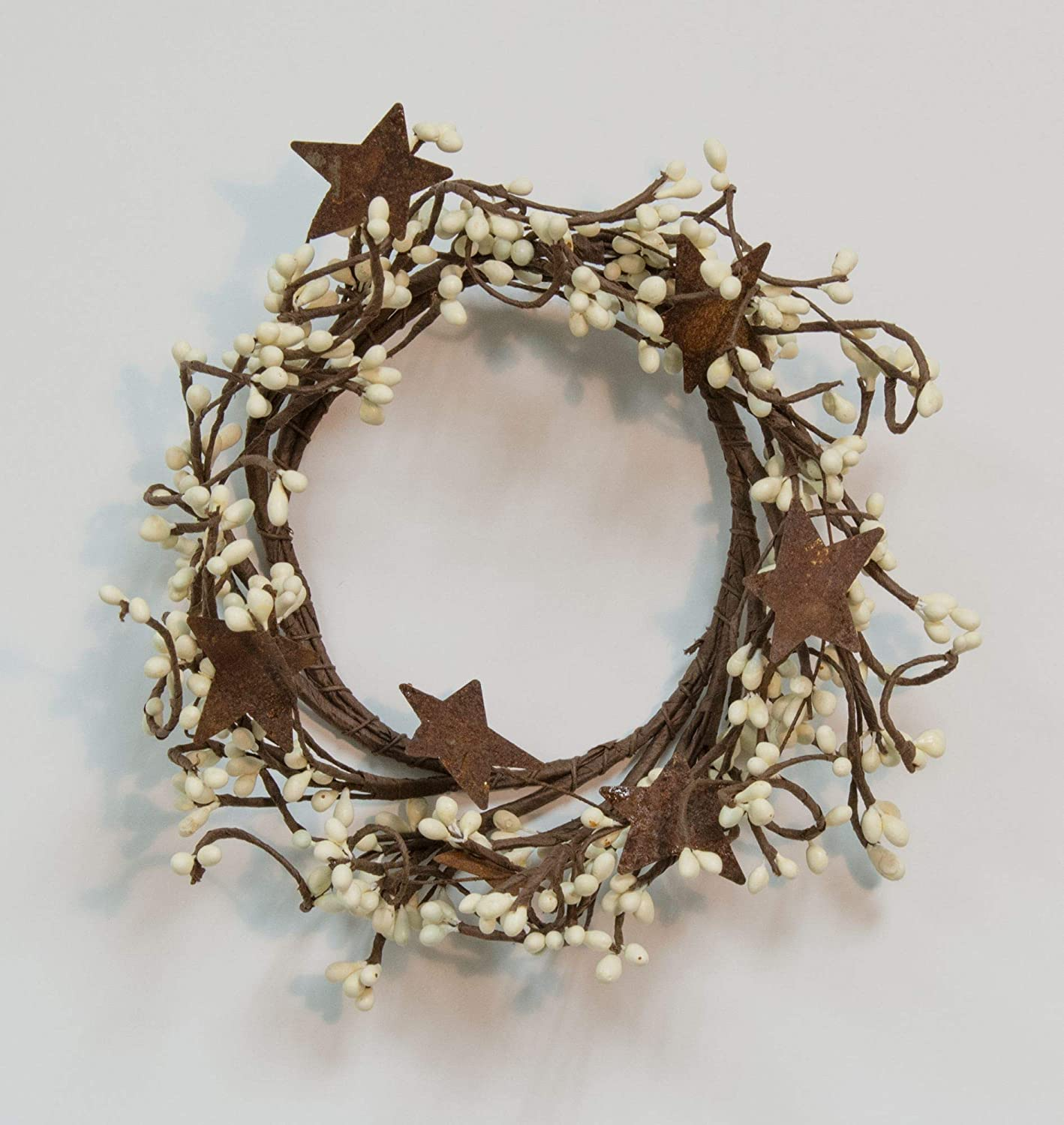 CWI Gifts Pip Ring with Rusty Stars, 4 by 8-Inch, Ivory (FT1038IA)
