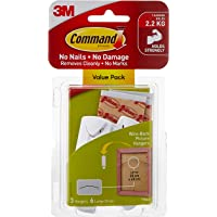 Command 17043VP Wire-Back Picture Hanging Hook, Large, White