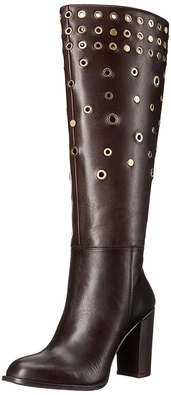 Nine West B01M6WNY00 Women's Quatrina Leather Boot B01M6WNY00 West 9 B(M) US|Dark Brown f0fe0d