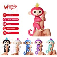 Wembley Toys Baby Finger Sensor Puppet Monkey Toy with Six Interactive Mode (Pack of 1) - Assorted
