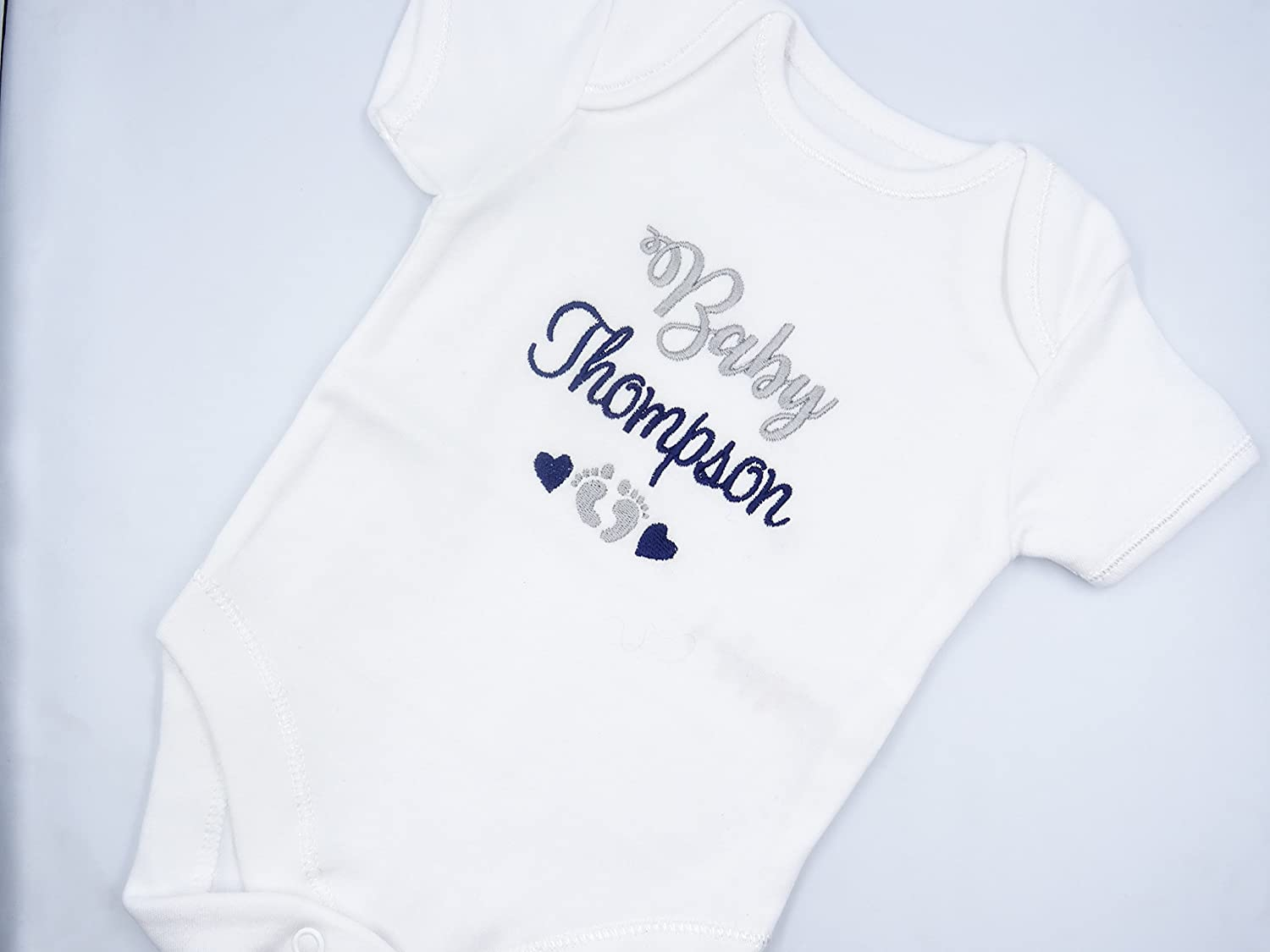 Hippowarehouse Personalised My Christening Day Your Name Any Date Baby Romper All in one Piece Unisex