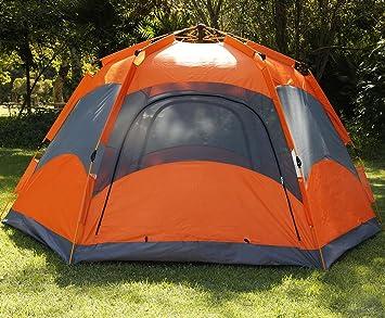 Qwest Premium Automatic 4-6 person Instant Easy Pop Up C&ing Tent Hexagonal & Amazon.com : Qwest Premium Automatic 4-6 person Instant Easy Pop ...