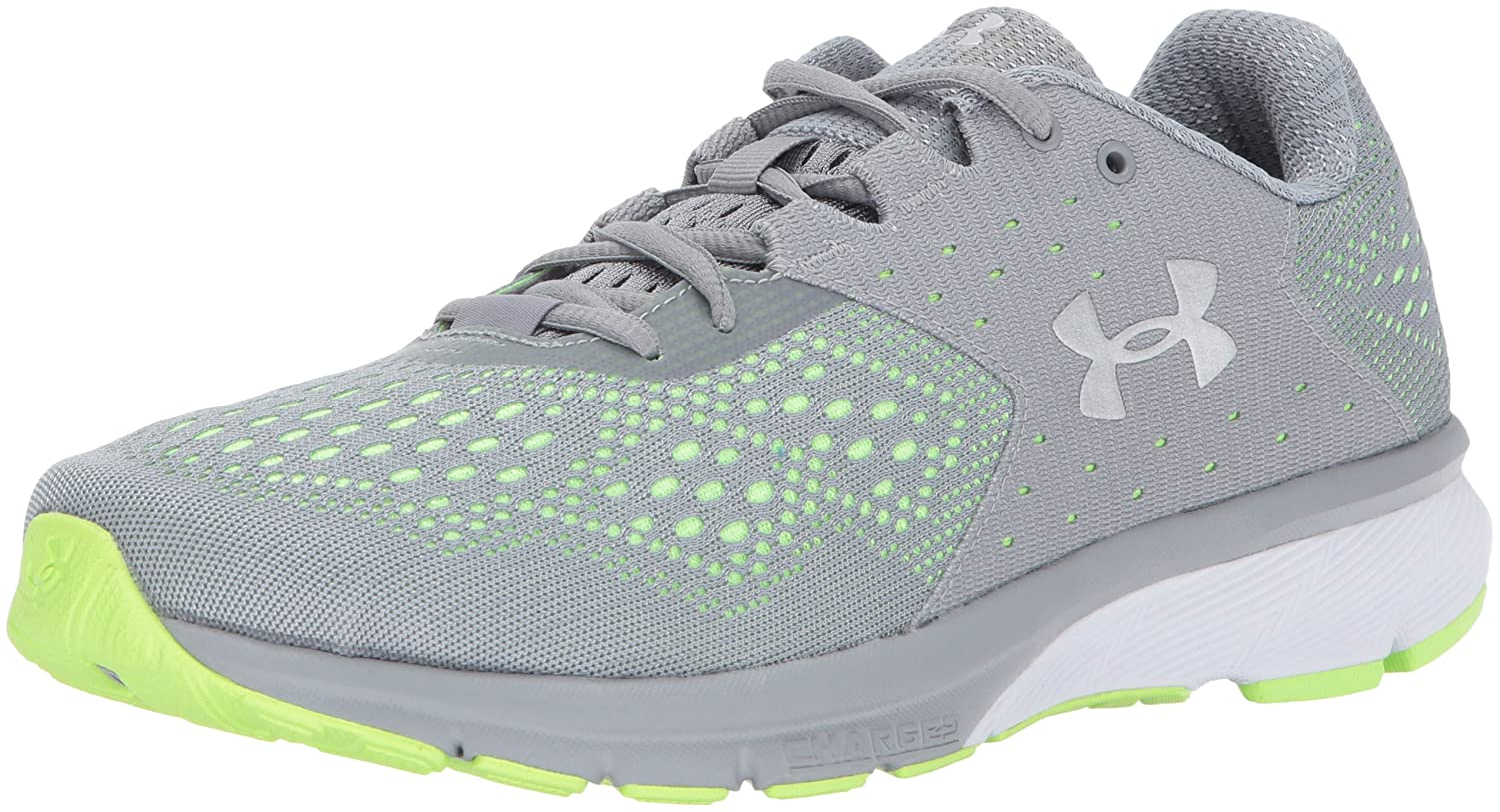 Under Armour Women's Charged Rebel Running Shoe B01MSYF0KS 6 M US|Steel (035)/Quirky Lime
