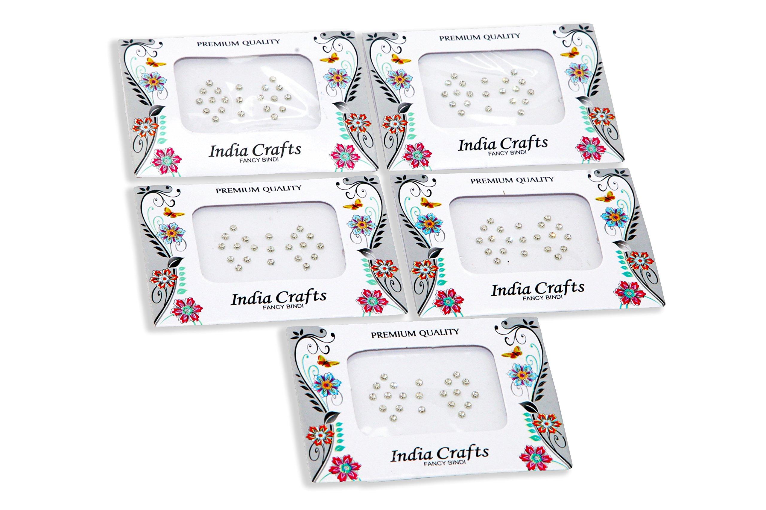 India Crafts(TM) 84+84 Bindi Dots bindi stickers Silver,Gold beads surrounded Dots bindi pack