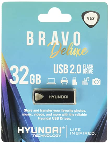 e848a6554ec3f4 Image Unavailable. Image not available for. Color: Hyundai Technologies  U2BK/32GAB 32GB Bravo Deluxe USB 2.0 Flash Drive ...