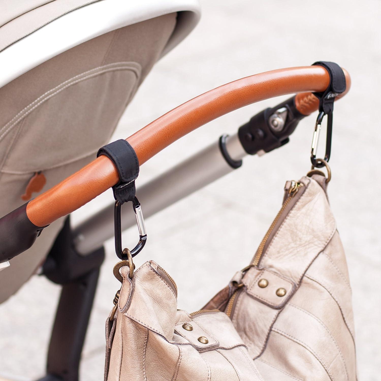 Stroller hooks Kinderwagen Haken Karabiner mit Klettverschluss Befestigungshaken F/ür Wickeltasche Kinderwagenbefestigung 2er Pack Kinderwagenhaken Taschenhalter Einkaufstasche
