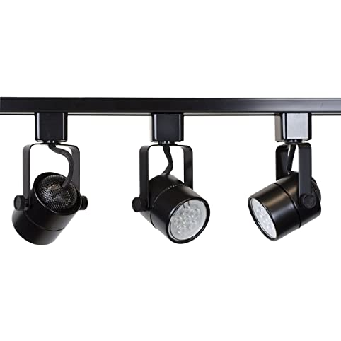 Direct lighting brand h system 3 lights gu10 led track lighting direct lighting brand h system 3 lights gu10 led track lighting kit black 3k aloadofball Image collections