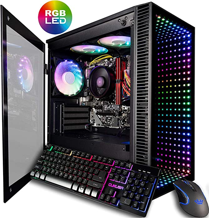 CUK Continuum Micro Gamer PC (AMD Ryzen 3 3200G with Radeon Vega 8 Graphics, 16GB 3000MHz RAM, 512GB NVMe SSD, 500W PSU, AC WiFi, No OS) Gaming Desktop Computer