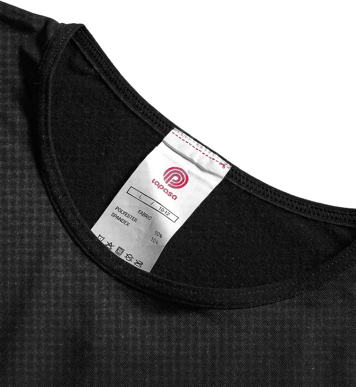 LAPASA Boy/&Girl Set Intimo Termico per Bambini e Bambine Ti Tiene al Caldo Senza Stress T-Shirt Maniche Lunghe /& Pantaloni Invernali B03