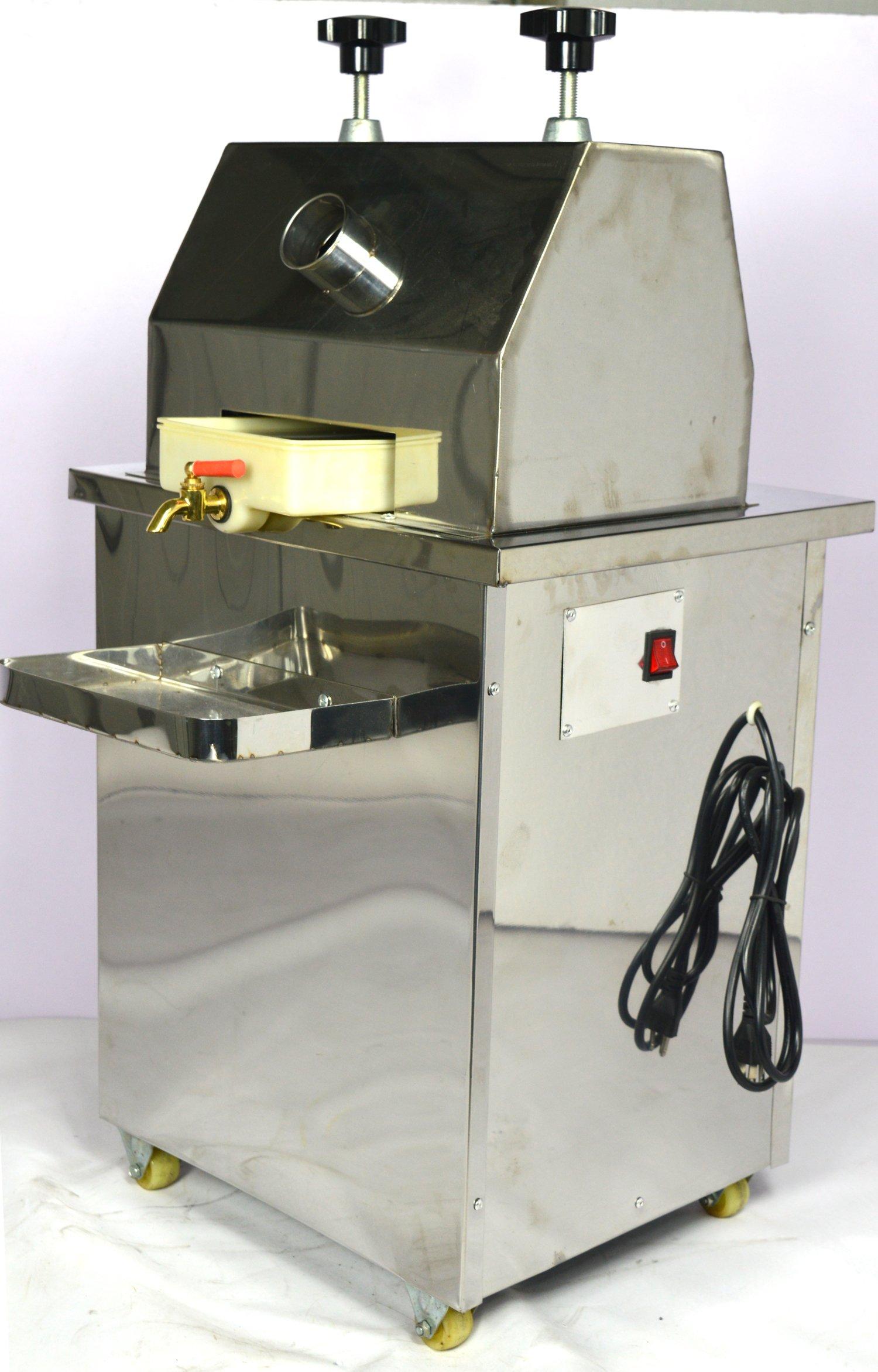 Techtongda Commercial Sugar Cane Juicer Electric Sugar Cane Press JuicerThree Rolls 126LB #134027
