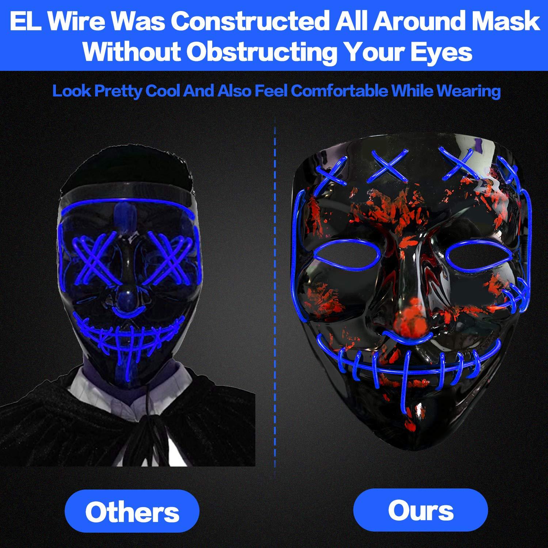 Amazon.com: Máscara de Halloween para disfraz de purga de ...