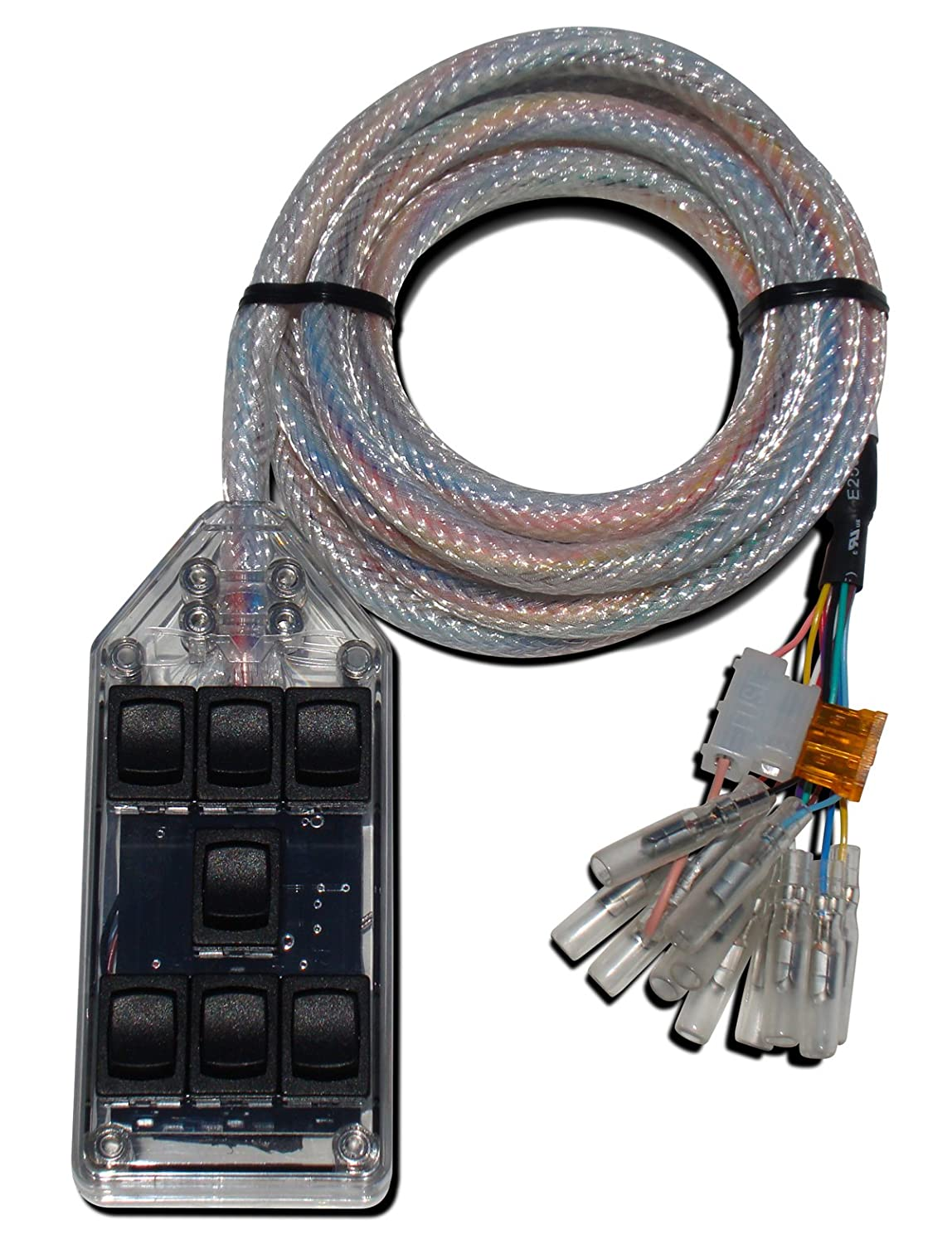 Amazon com clear 7 rocker switch controller box for air ride fbss on how to wire avs switch box ABC Switch Box Mercury Switch Box Wiring Diagram