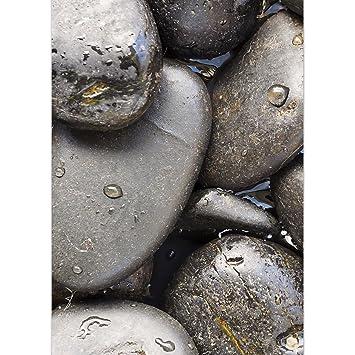 Dekoglas Glasbild Schwarzer Steine Echtglas Bild Küche Wandbild