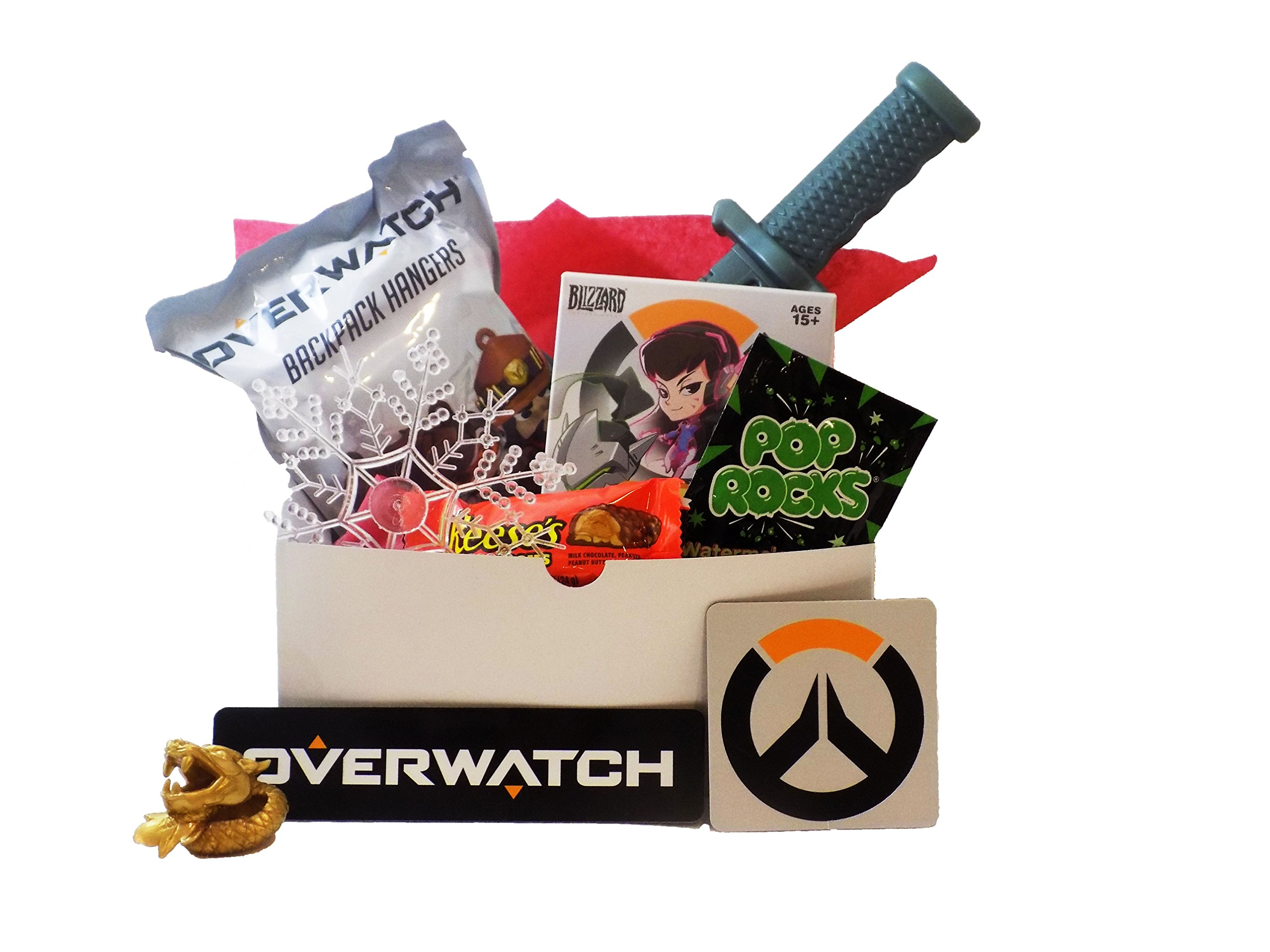 Overwatch Video Game Themed Candy and Toy Gift Basket