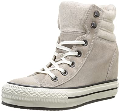 Chuck Taylor All Star Platform Trainers In Grey - Grey Converse H8FI0XeBHE