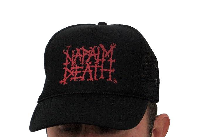 "65676c3d0b3 Image Unavailable. Image not available for. Color  Hardcore Apparel Men s Napalm  Death ""Logo"" Trucker Hat"