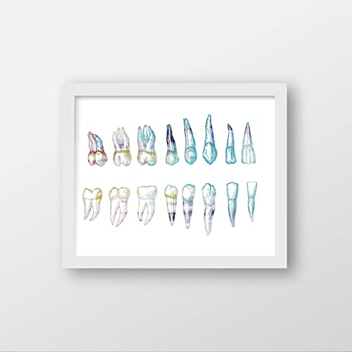 dental office decor. Dentist Abstract Watercolor Art Print - Wall Office Decor Dental R