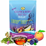Weight Loss Detox Tea and Total Body Wellness - 15 Day Colon Slim Cleanse Support – Reduce Bloating & Appetite Suppressant Teatox with 100% Pure Herbs & Fruits