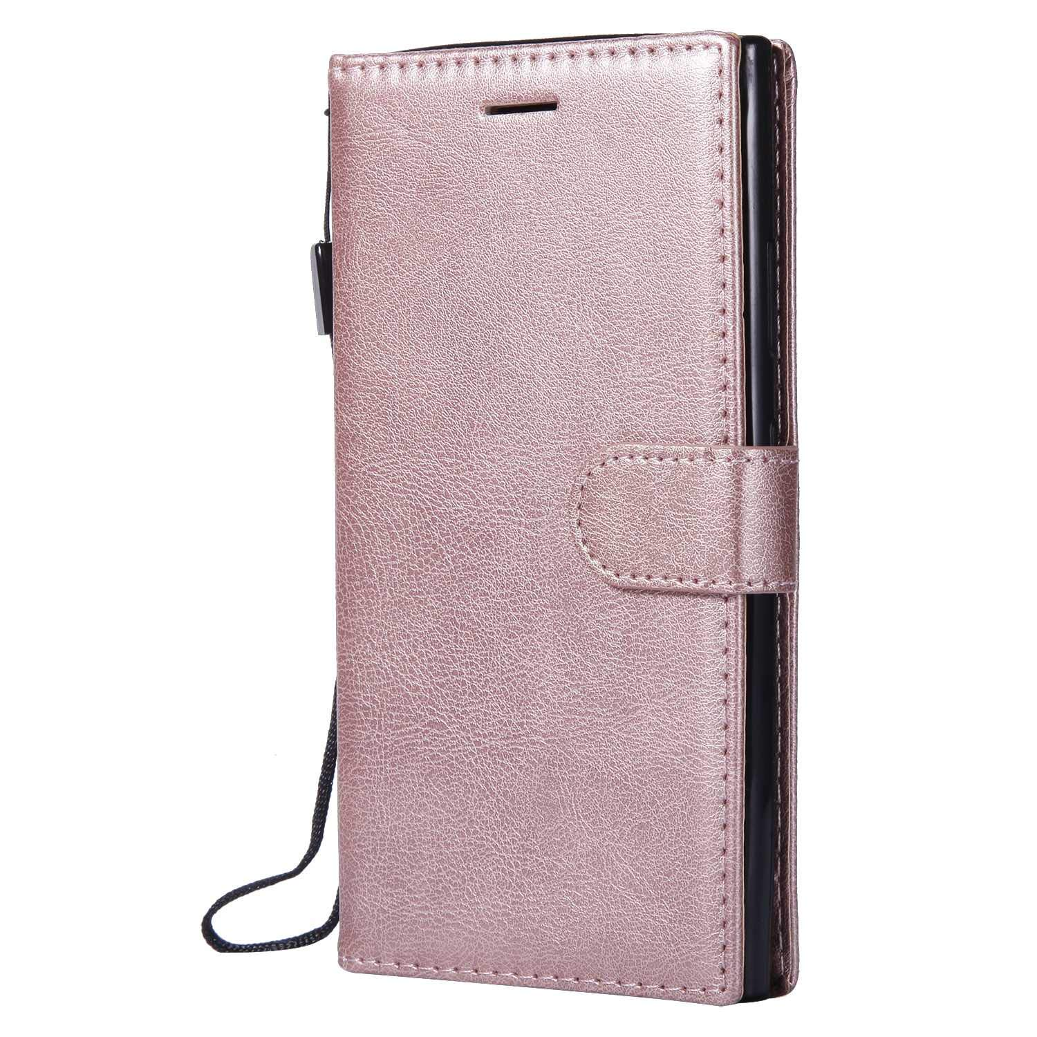 Sony Xperia L2 Wallet Case, CUSKING Premium Leather Cover with Silicone Inner Case for Sony Xperia L2 [Card Holder] [Magnetic Closure] [Hand Strap] - Rose Gold by CUSKING (Image #1)