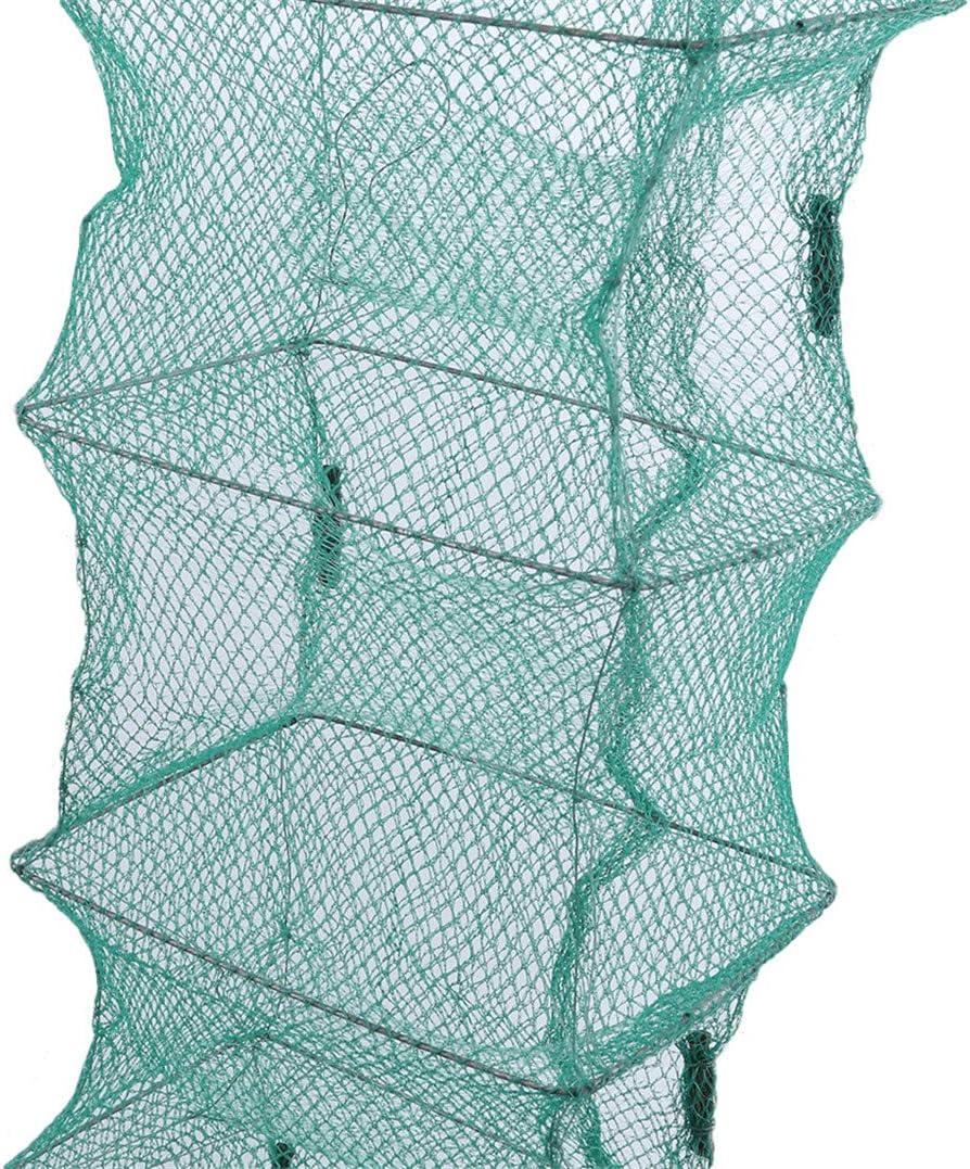 Piège à filet de crabe pliable Cast Dip Cage Pêche Appâts Poisson Minnow Éc