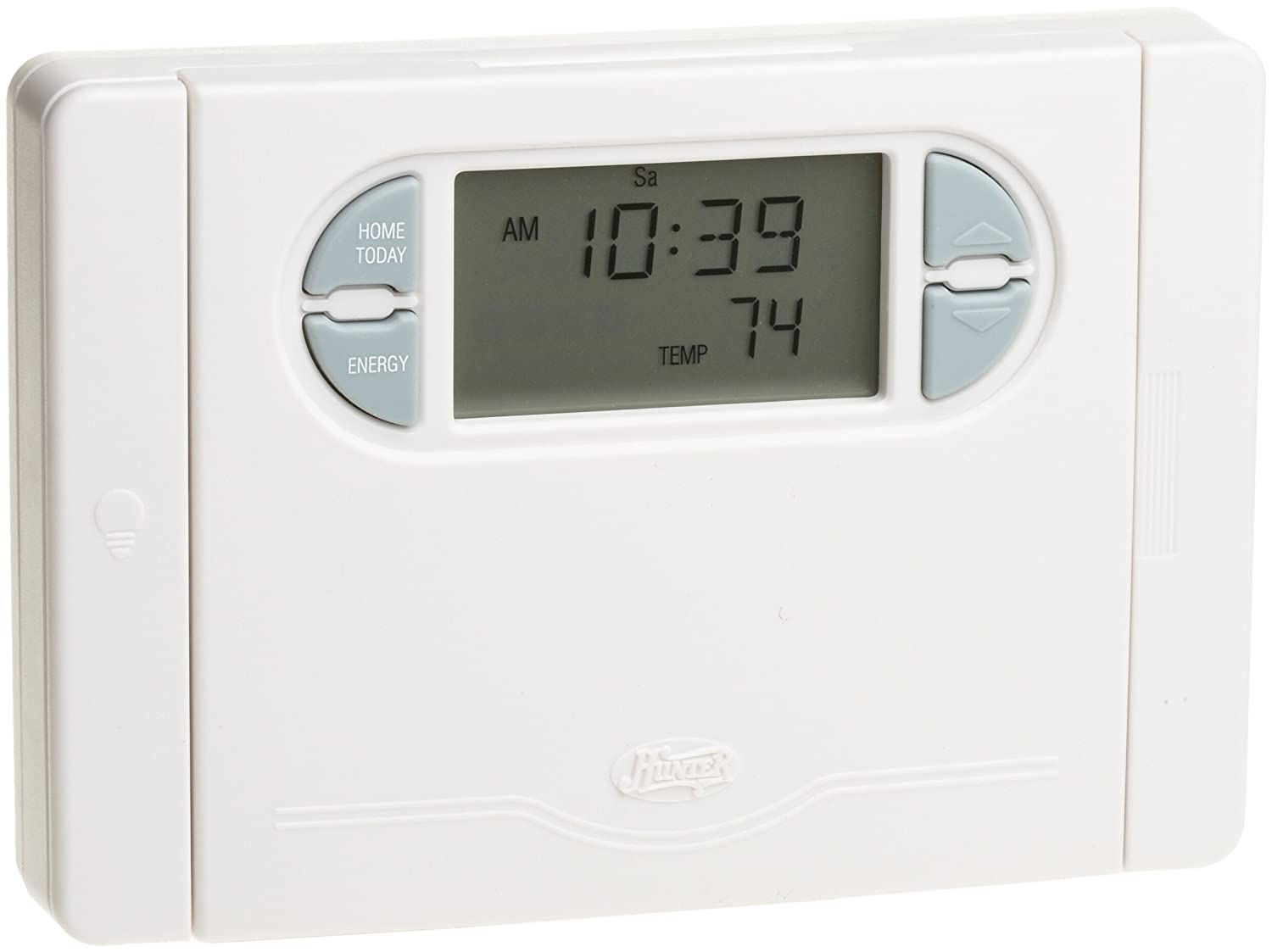 hunter 44550 auto save 7 day programmable thermostat programmable rh amazon com hunter thermostat manual 44133 hunter thermostat manual 44378