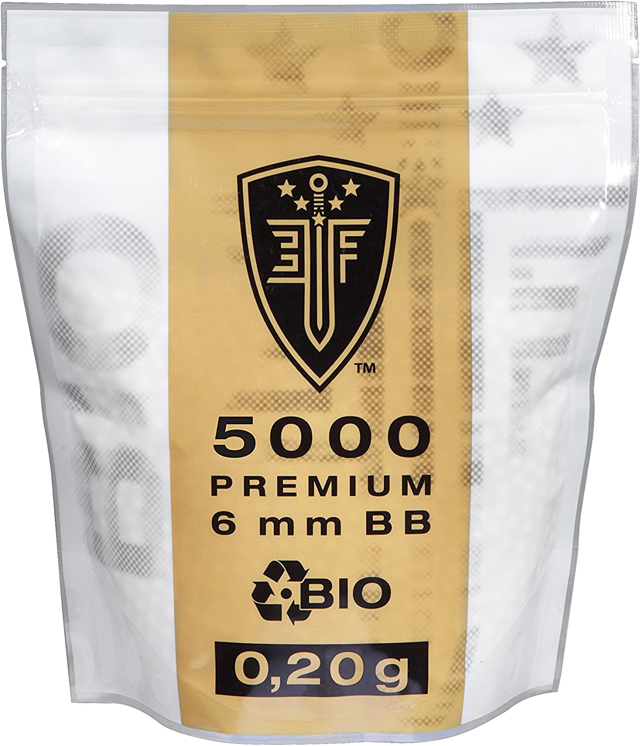 Elite Force Premium bio BB Airsoft color blanco 6 mm, 0,20 g, 5000 BBS