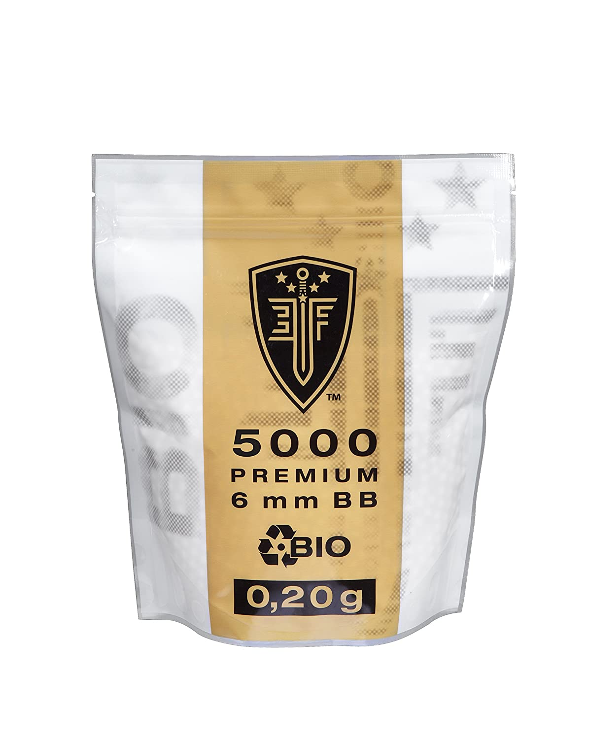 Elite Force Softair Ammunition Bio BBs – 0.20 g 6 mm 5.000 pcs. Zipper Bag 26100