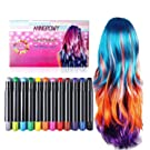 Hair Chalk for Kids Girls - Glitter Metallic Color - Temporary Hair Chalks Colour Set Prime Hair Chalk Pens Perfect Birthday Present Gifts for Girls, Boys, Women and Men Washable Instant Hair Dye for Blonde Brown Auburn and Dark Hair Color Treatment