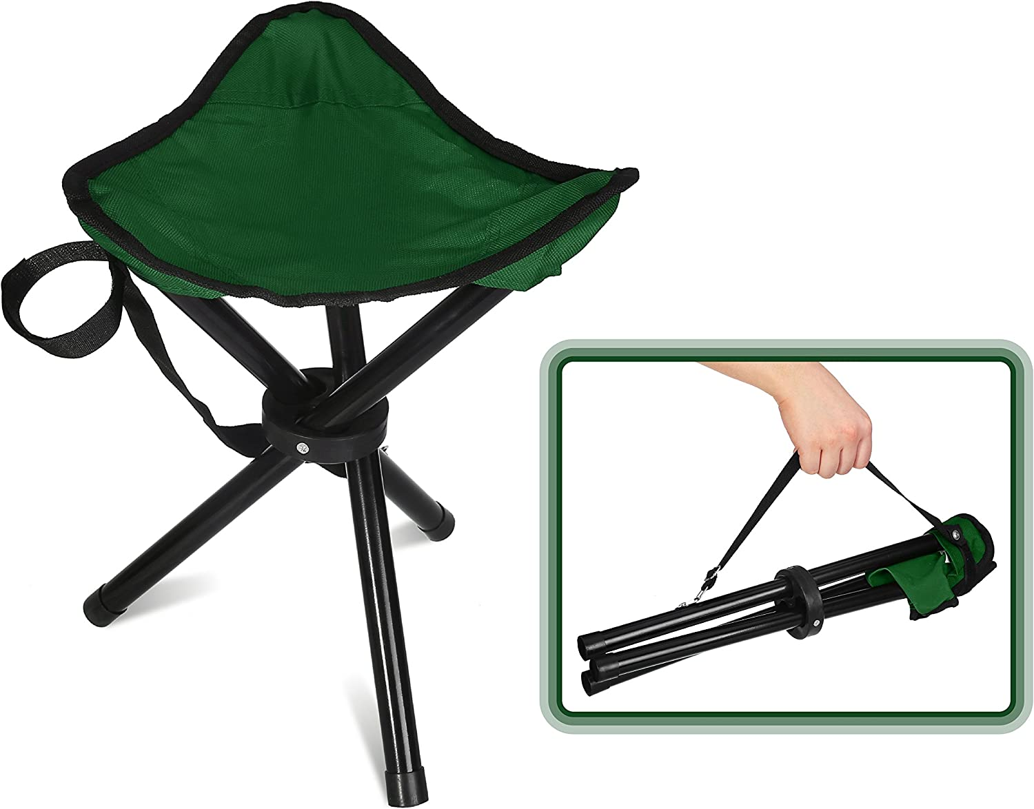 CAMPING TRIPOD FOLDING STOOL chair seat hiking caravan