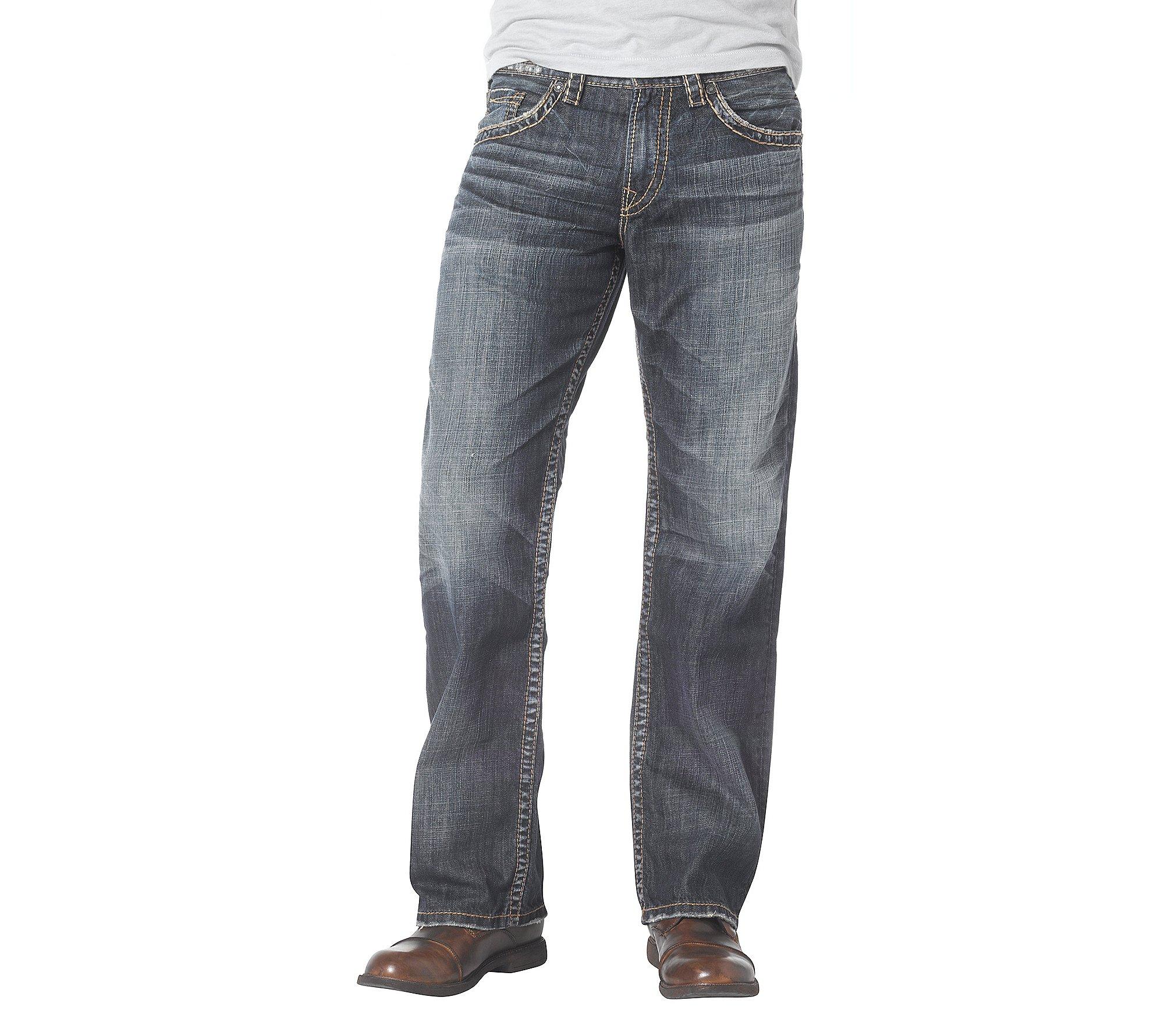Silver Jeans Men's Craig Easy Fit Bootcut, Dark Heritage Wash, 30 x 32