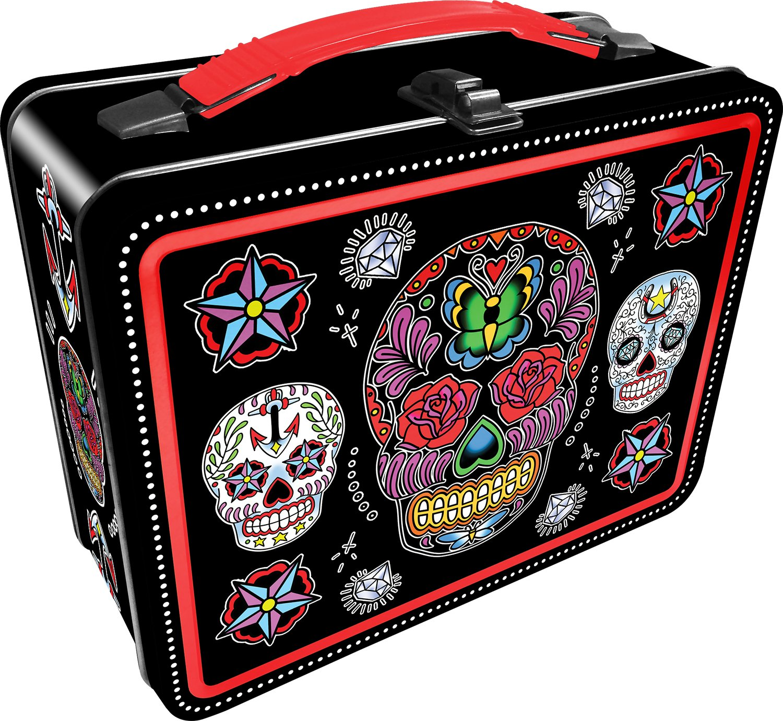 Aquarius Sugar Skulls Black Gen 2 Tin Storage Fun Box by Aquarius