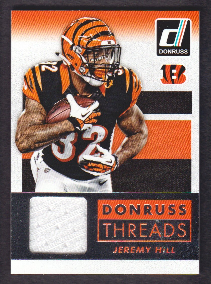 a6e2805a 2015 Donruss Football Threads #DT-JHI Jeremy Hill Jersey Cincinnati ...