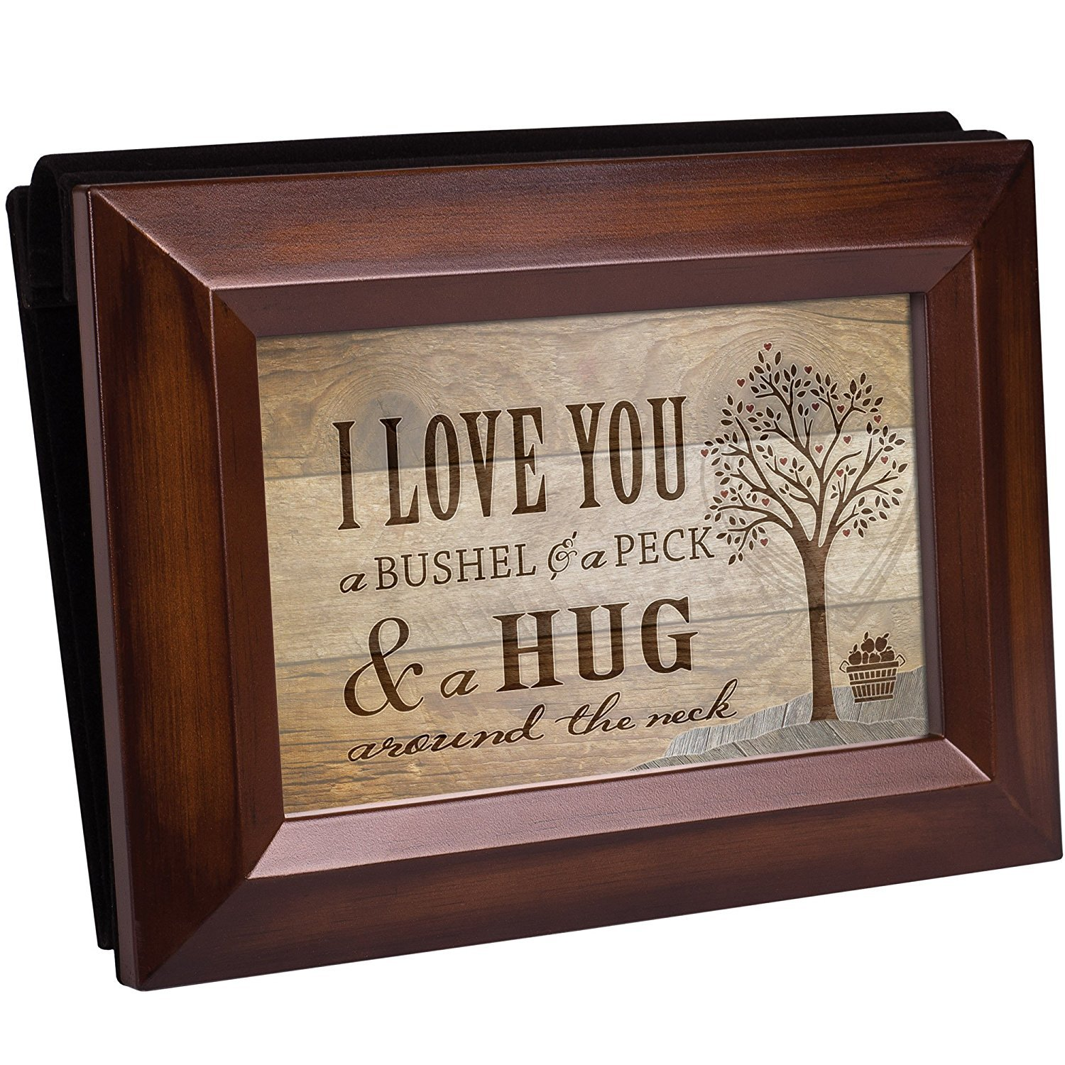 Love You A Bushel And A Peck Rich Walnut Wood 4 x 6 Table Top Photo ...