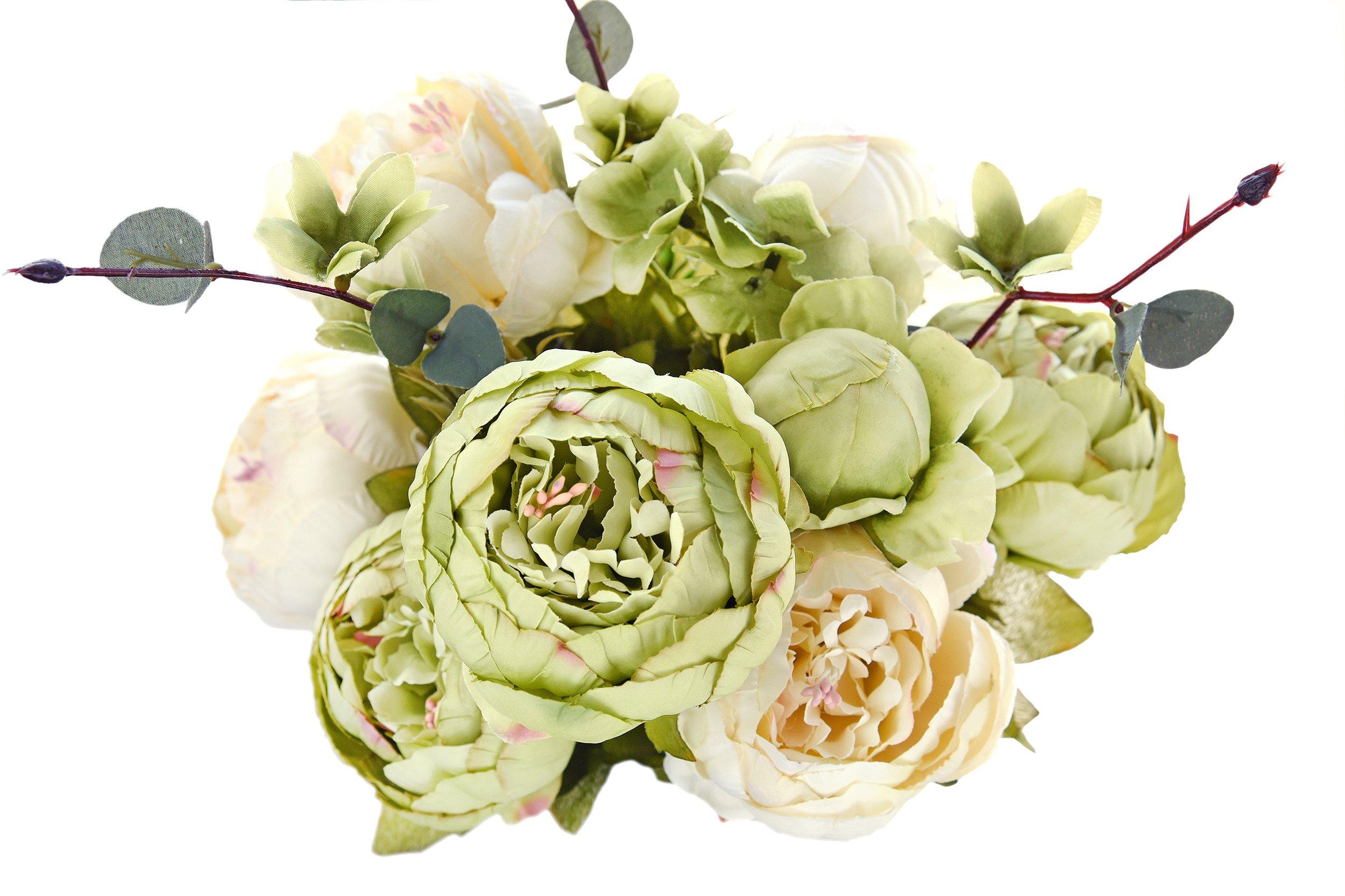 5e51168e5404 FiveSeasonStuff Grande Bouquet di di Seta Peony e Ortensie Artificiale  Fiori Stile Europeo