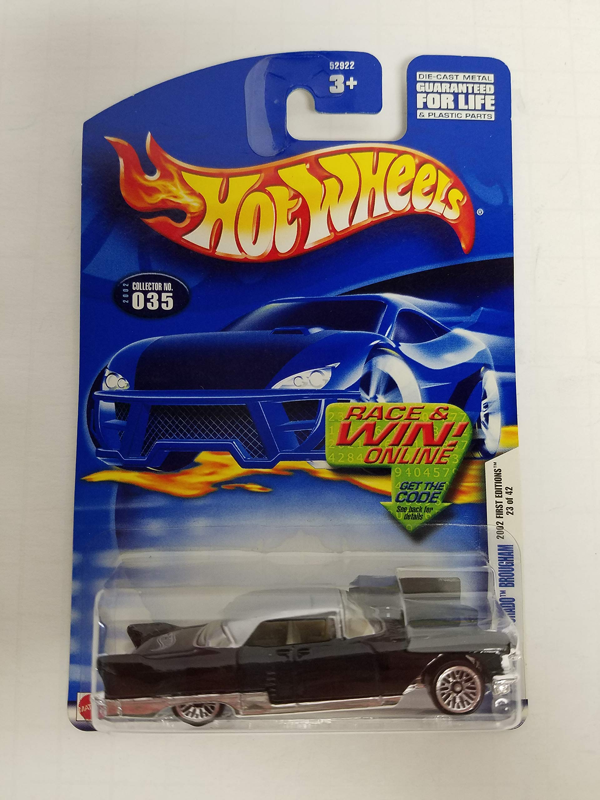 Custom '57 Cadillac El Dorado Bougham Hot Wheels 2002 diecast 1/64 scale car No. 035