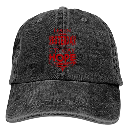 69d5f6d1db Black Baseball Cap-Learn from Yesterday Live for Today Hope Trucker ...