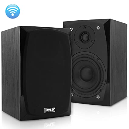 Hifi Desktop Bookshelf Speakers Pair 300 Watt Powered Bluetooth Compatible Active Passive Book Shelf Speakers Studio Monitor Computer Desk Home