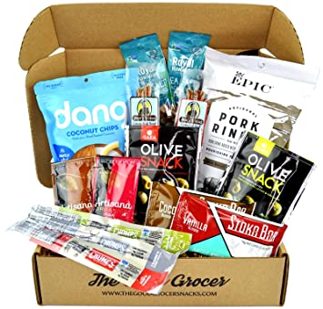 Clean KETO and PALEO Snacks Care Package (15ct): Ultra Low Carb, Dairy Free, Soy Free, ...