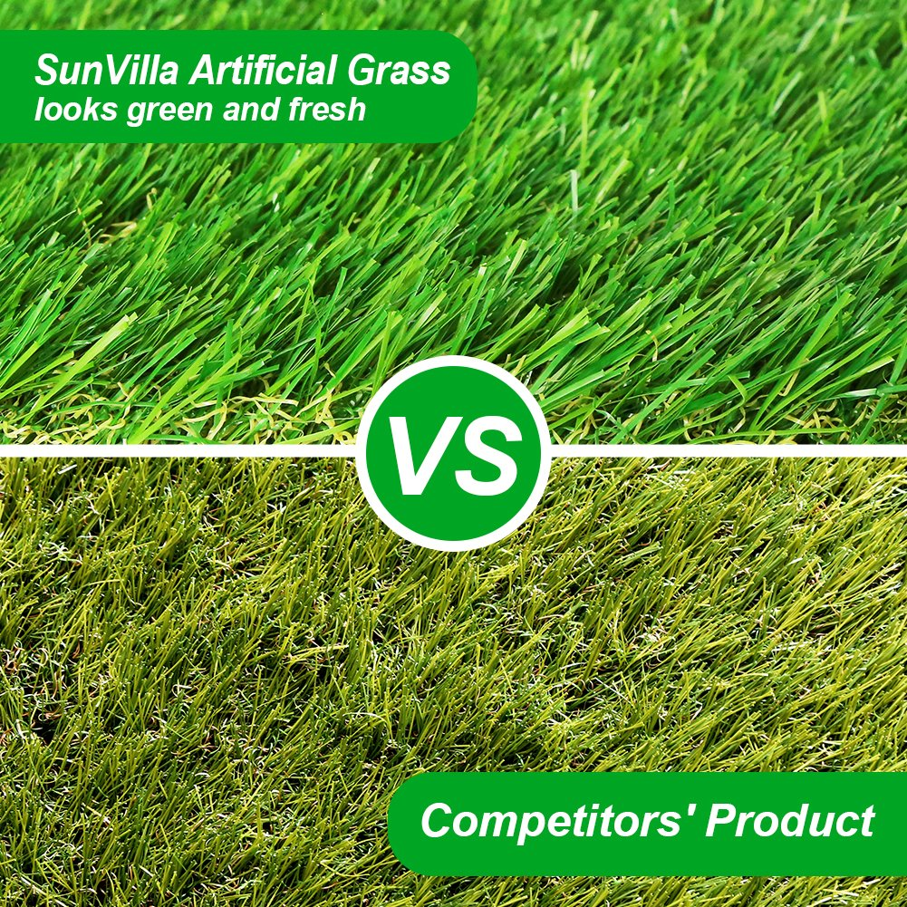 SunVilla SV7'X13' Realistic Indoor/Outdoor Artificial Grass/Turf 7 FT X 13 FT (91 Square FT) by SunVilla (Image #5)