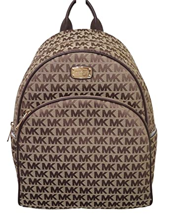 1403642871e1 Amazon.com | Michael Kors Beige Java Large Signature Backpack Bag ...